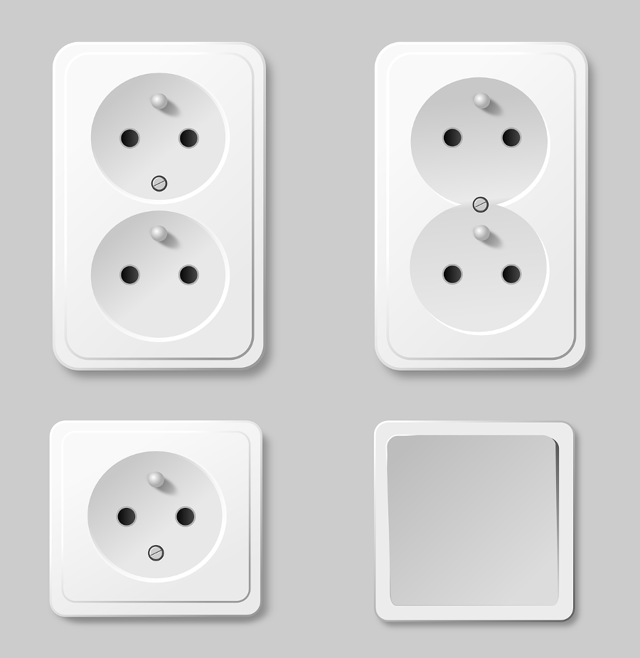 Gniazdka i włączniki elektryczne